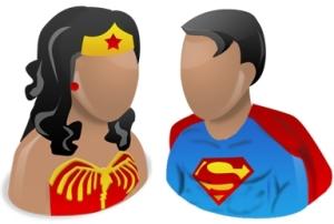 Imagen de Mujer Maravilla y Superman